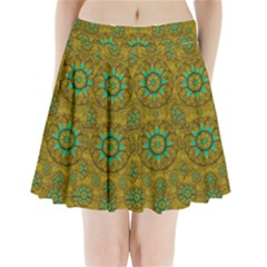 Sunshine And Flowers In Life Pop Art Pleated Mini Skirt