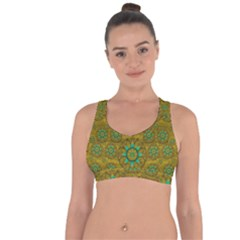Sunshine And Flowers In Life Pop Art Cross String Back Sports Bra