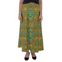 Sunshine And Flowers In Life Pop Art Flared Maxi Skirt