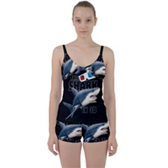 The Shark Movie Tie Front Two Piece Tankini