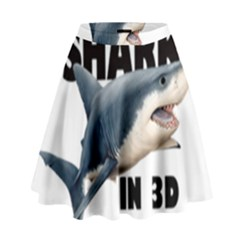 The Shark Movie High Waist Skirt
