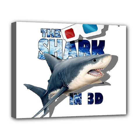 The Shark Movie Deluxe Canvas 20  X 16