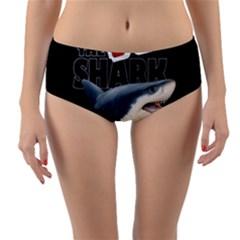 The Shark Movie Reversible Mid Waist Bikini Bottoms