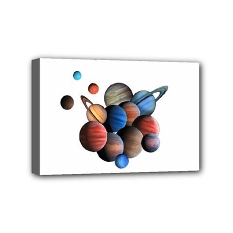Planets  Mini Canvas 6  X 4