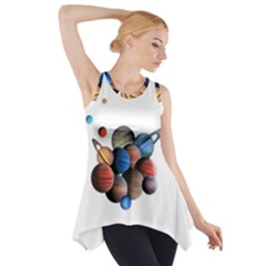 Planets  Side Drop Tank Tunic