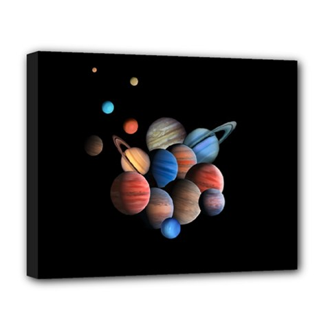 Planets  Deluxe Canvas 20  X 16