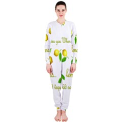 When Life Gives You Lemons Onepiece Jumpsuit (ladies)