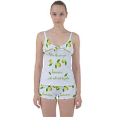When Life Gives You Lemons Tie Front Two Piece Tankini