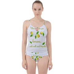 When Life Gives You Lemons Cut Out Top Tankini Set