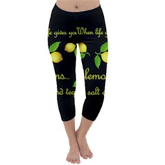 When Life Gives You Lemons Capri Winter Leggings