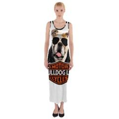 Bulldog Biker Fitted Maxi Dress