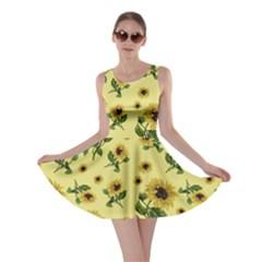 Sunflowers Pattern Skater Dress
