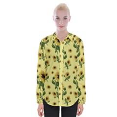 Sunflowers Pattern Womens Long Sleeve Shirt