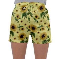 Sunflowers Pattern Sleepwear Shorts