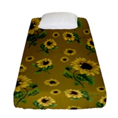 Sunflowers Pattern Fitted Sheet (single Size)