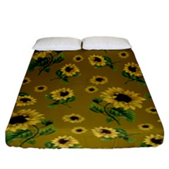 Sunflowers Pattern Fitted Sheet (king Size)