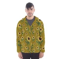 Sunflowers Pattern Hooded Wind Breaker (men)