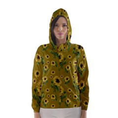 Sunflowers Pattern Hooded Wind Breaker (women)