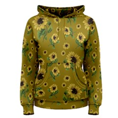 Sunflowers Pattern Women s Pullover Hoodie