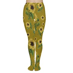 Sunflowers Pattern Women s Tights