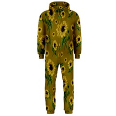 Sunflowers Pattern Hooded Jumpsuit (men)