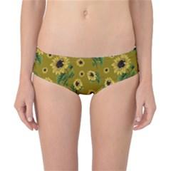 Sunflowers Pattern Classic Bikini Bottoms