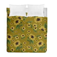 Sunflowers Pattern Duvet Cover Double Side (full/ Double Size)