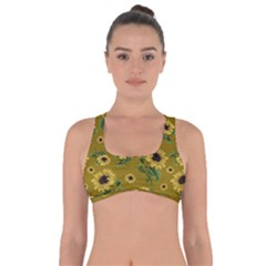 Sunflowers Pattern Got No Strings Sports Bra