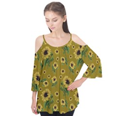 Sunflowers Pattern Flutter Tees