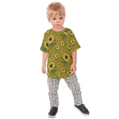 Sunflowers Pattern Kids Raglan Tee