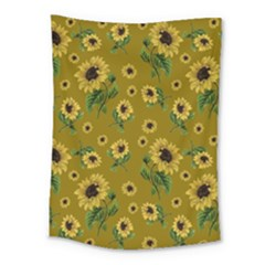 Sunflowers Pattern Medium Tapestry