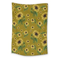Sunflowers Pattern Large Tapestry
