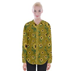 Sunflowers Pattern Womens Long Sleeve Shirt
