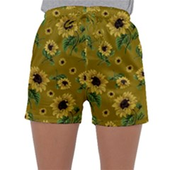 Sunflowers Pattern Sleepwear Shorts