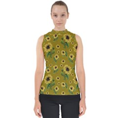 Sunflowers Pattern Shell Top