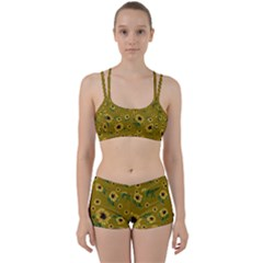 Sunflowers Pattern Women s Sports Set