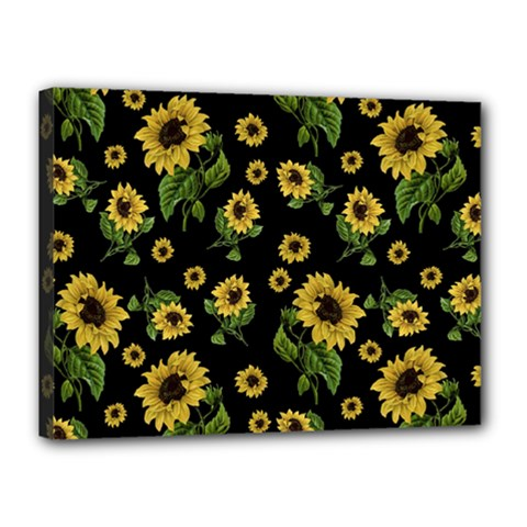 Sunflowers Pattern Canvas 16  X 12