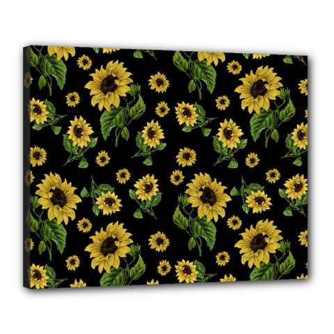 Sunflowers Pattern Canvas 20  X 16