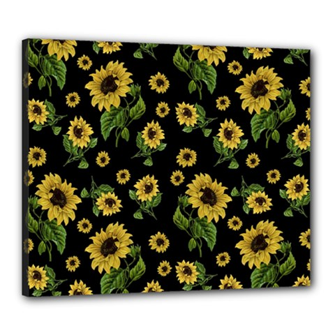 Sunflowers Pattern Canvas 24  X 20