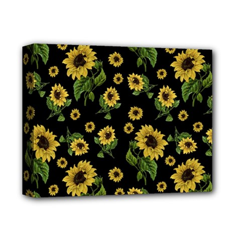 Sunflowers Pattern Deluxe Canvas 14  X 11