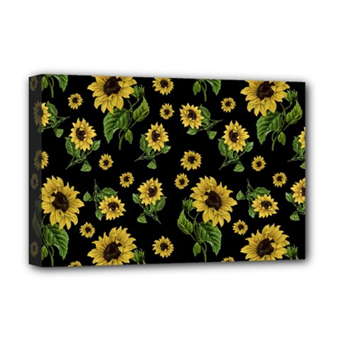 Sunflowers Pattern Deluxe Canvas 18  X 12
