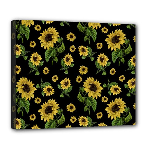 Sunflowers Pattern Deluxe Canvas 24  X 20
