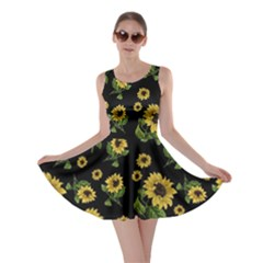 Sunflowers Pattern Skater Dress