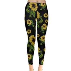 Sunflowers Pattern Leggings