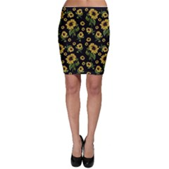Sunflowers Pattern Bodycon Skirt