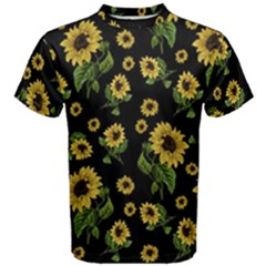 Sunflowers Pattern Men s Cotton Tee