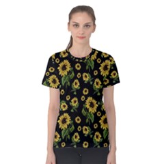 Sunflowers Pattern Women s Cotton Tee