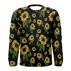 Sunflowers Pattern Men s Long Sleeve Tee