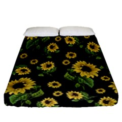 Sunflowers Pattern Fitted Sheet (queen Size)