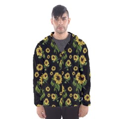 Sunflowers Pattern Hooded Wind Breaker (men)